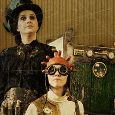 Spectacle de rue steampunk